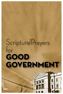 GOOD GOVERNMENT PRAYER GUIDE